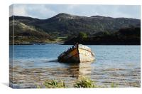 The Wreck in Loch Craignish, Canvas Print