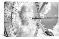 Under the London Eye, Canvas Print
