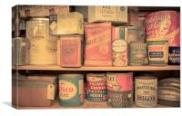 Vintage Food Pantry, Canvas Print