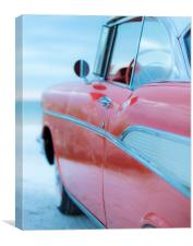 Classic Chevy Bel Air at the Beach, Canvas Print