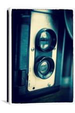 Old Twin Reflex Film Camera, Canvas Print