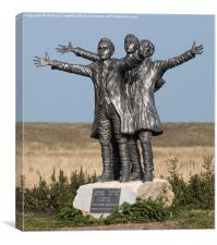 Short Brothers Statue, Shellness, Sheppey, Kent, Canvas Print