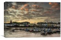 Ilfracombe Harbour Devon, Canvas Print