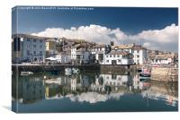 Falmouth Custom House Quay, Canvas Print