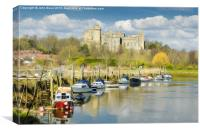 Arundel Castle and The Arun, Canvas Print