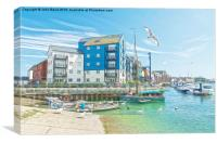 Littlehampton Harbour, Canvas Print