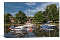 Totnes Yachts on the The Quay River dart Totnes de, Canvas Print