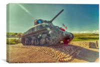 ShermAN tANK AT Slapton Sands, Canvas Print