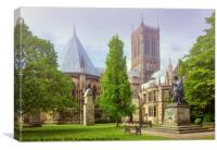Lincoln Cathedral Alfred Lord Tennyson, Canvas Print