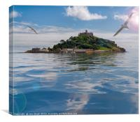 St Michael's Mount fantasy, Canvas Print