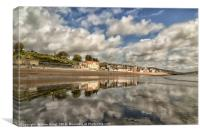 Lyme Regis Blue sky through cloud, Canvas Print