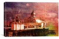 Eastbourne Pier Textured experiment 1, Canvas Print