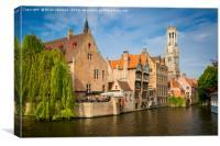 Bruges Canal , Canvas Print