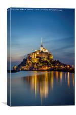 Mont Saint Michel Twilight, Canvas Print