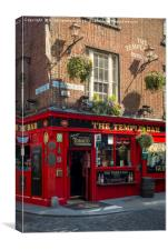 Evening at historic Temple Bar, Dublin, County Eir