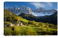 Dolomite Afternoon, Canvas Print