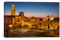 Ponte Pietra - Verona Italy, Canvas Print