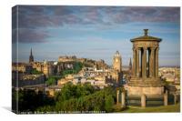 Early Morning over Edinburgh, Canvas Print