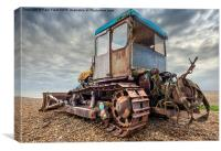 Beach bulldozer, Canvas Print