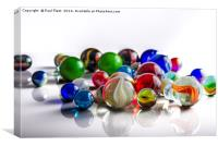Group of Marbles, Canvas Print
