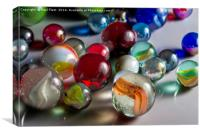 Mixed Glass Marbles, Canvas Print