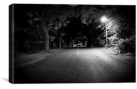 Country Road Night, Canvas Print