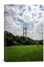 Humber Bridge - a summers sky, Canvas Print
