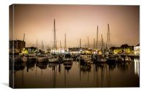 Hull Marina, Landscape, Canvas Print
