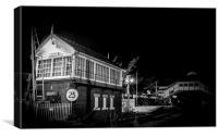 Beverley Rail signal house, Canvas Print