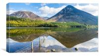Grasmoor and Whiteside From Across Crummock Water, Canvas Print
