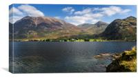 Across Crummock Water to Rannerdale Knotts, Canvas Print