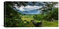 Crummock Water From Loweswater, Canvas Print