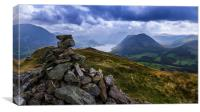 Crummock Water From Low Fell, Canvas Print