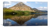 Grasmoor From Crummock Water, Canvas Print