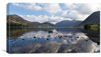 Crummock Water Looking Towards Buttermere, Canvas Print
