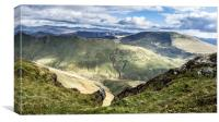 Lakeland Fells, Canvas Print