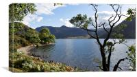Crummock Water From The Beach, Canvas Print
