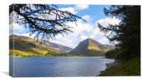 Fleetwith Pike and Buttermere from Burtness Wood, Canvas Print