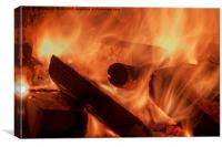 Mesmerising Flames, Canvas Print