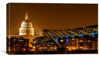 St. Paul's and Millennium Bridge. , Canvas Print