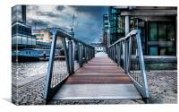 Footbridge. , Canvas Print