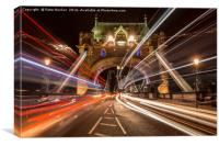 Light Trails, Colour., Canvas Print