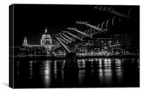 St. Paul's & Millennium., Canvas Print