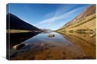 Loch Etive reflections, Canvas Print