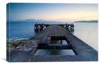 Portencross Pier, Canvas Print