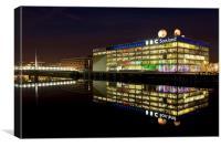 BBC Scotland Studios at night, Canvas Print