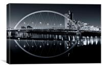 The Squinty Bridge at night, Canvas Print