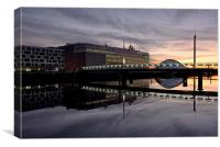 The SECC at sunset, Canvas Print