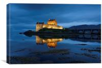 Eilean Donan at night, Canvas Print