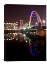 The Squinty Bridge, Glasgow, Canvas Print